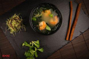 Miso zupa ar tigergarnelem